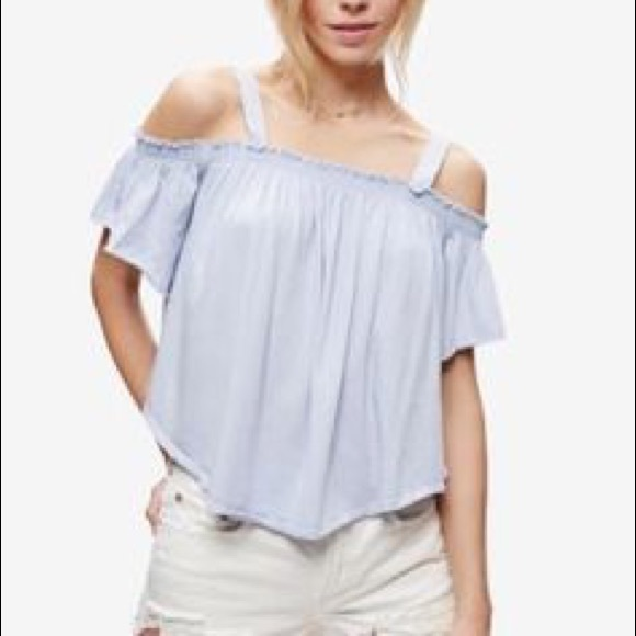 9fd120b568a751 Free People Tops - Free People We The Free Knit Darling Sky Blue Top